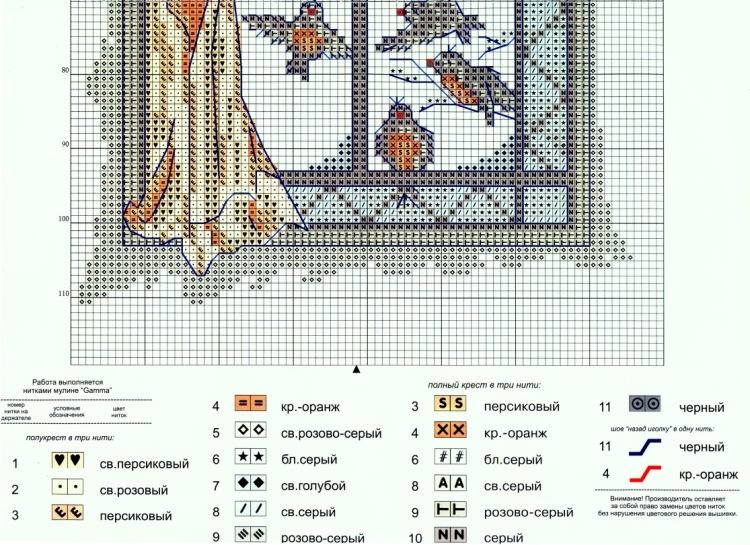 Panna вышивки схема 19