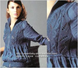 Комбинирование ткани и вязания на спицах