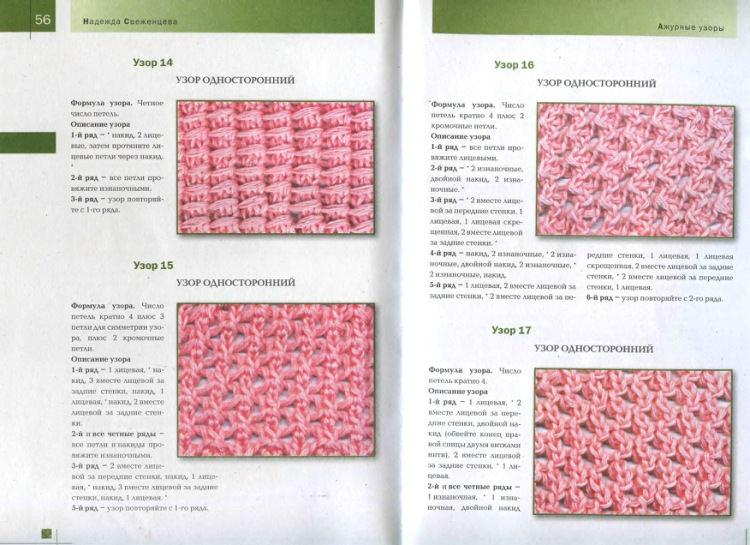 схема вязания объемной розы