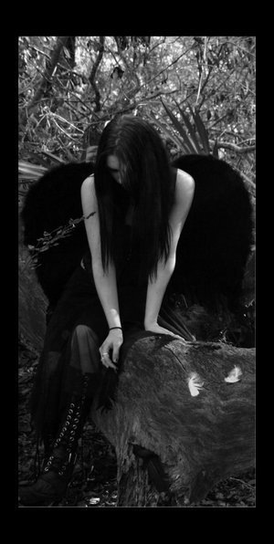 Фото черного ангела на аву
