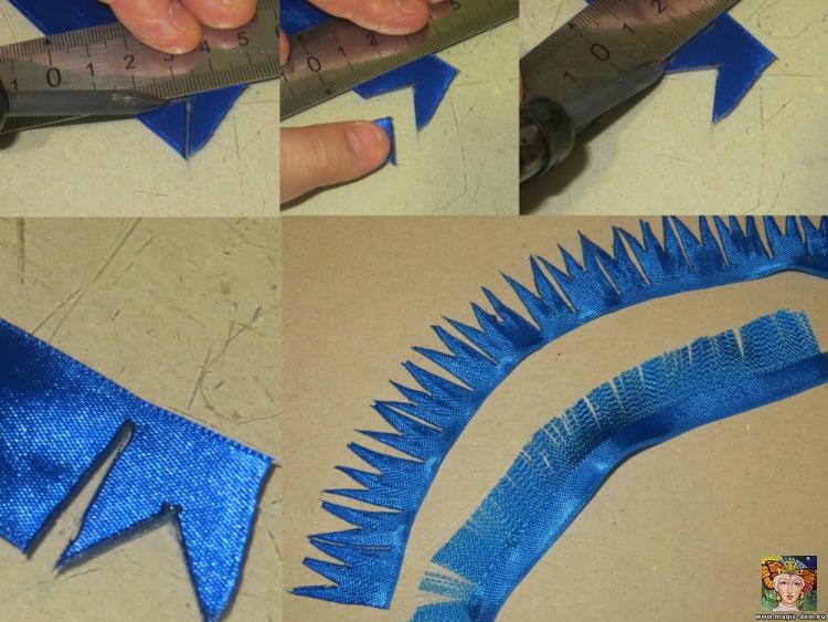 как сделать васильки из ленты своими руками