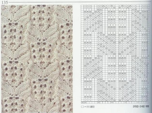 Вязание спицами японские узоры схемы 83