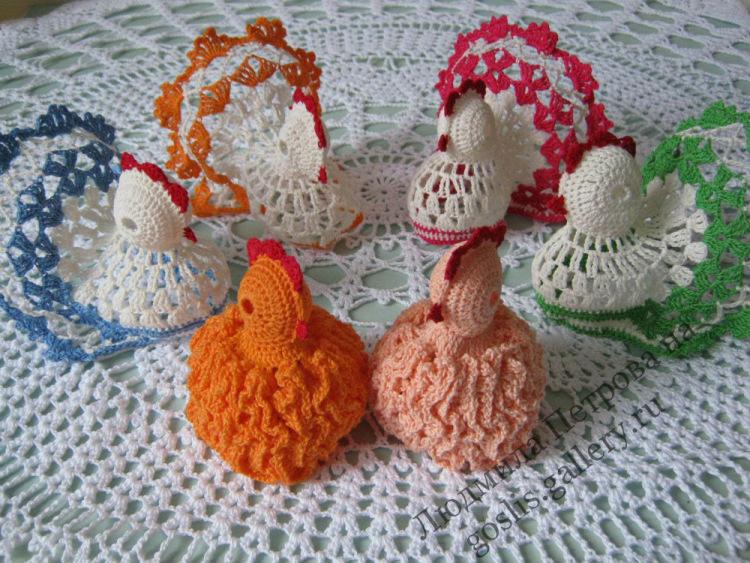 Пасхальные курочки и их вязание крючком 985