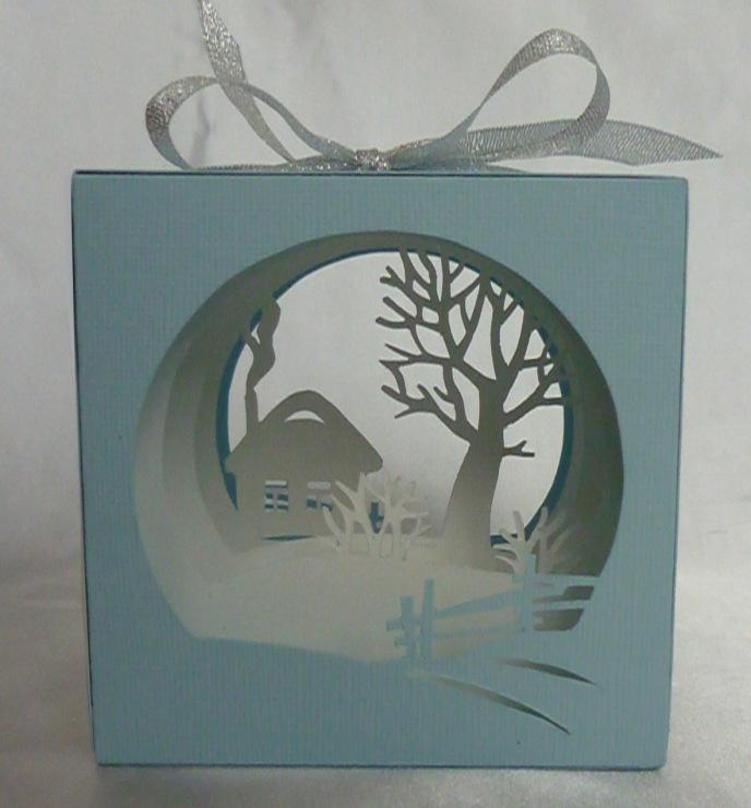 Многослойные открытки зима