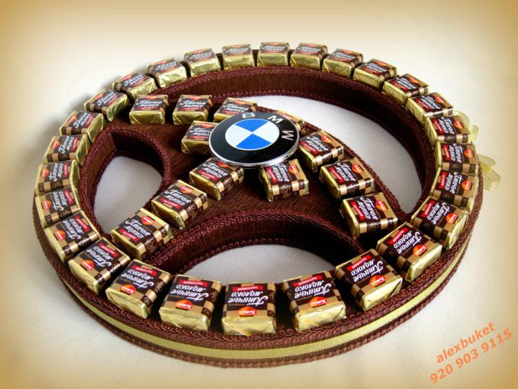 Руль из конфет пошагово своими руками 89