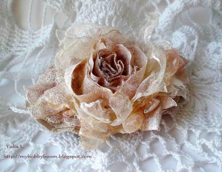 Мастер класс цветы из гипюра