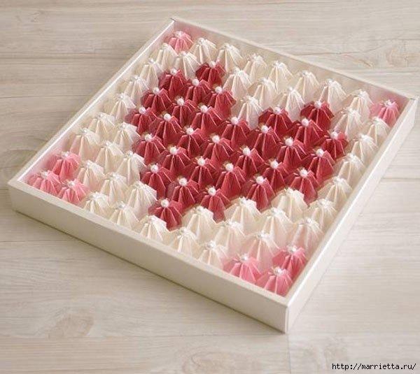 Декор коробки нитками своими руками 12