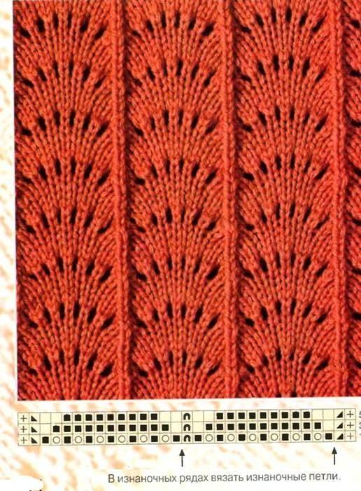 Вязание веером спицами 36