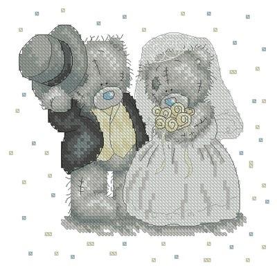 Схемы вышивки крестом мишки тедди свадьба 44