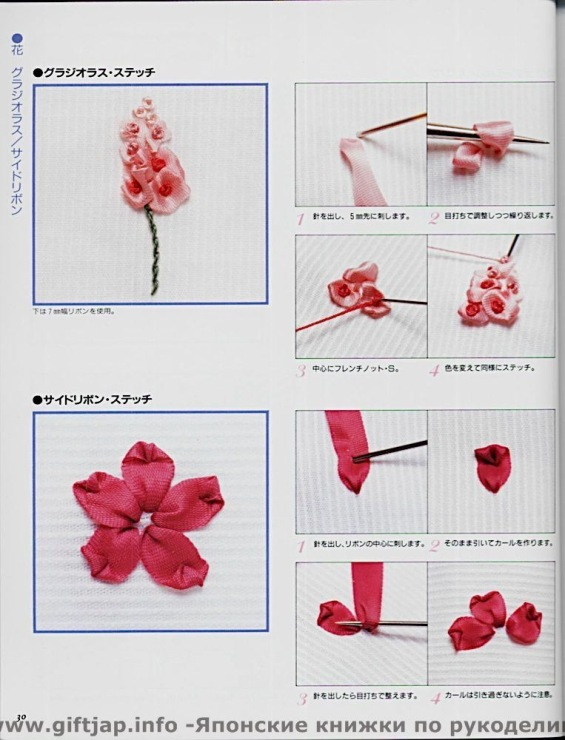 Вышивка розы для начинающих пошагово 589