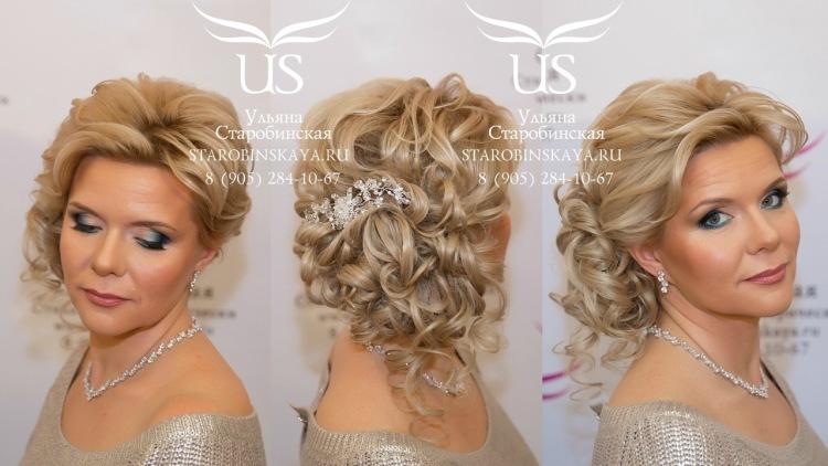 Женские прически для средних волос на свадьбу