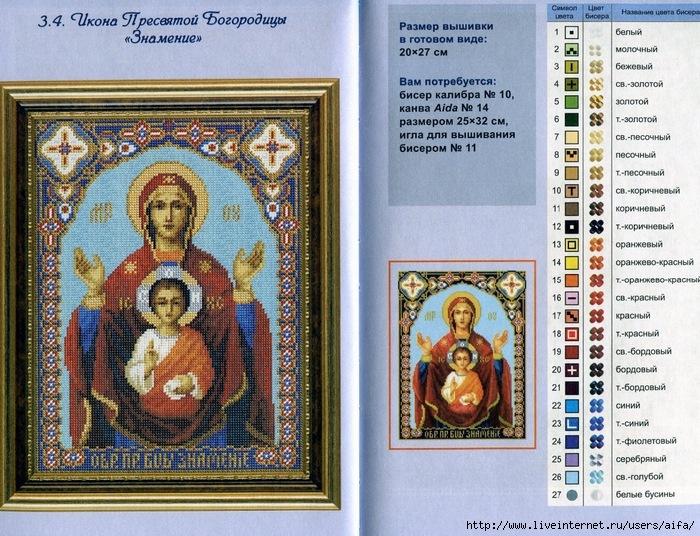 Размер иконы для вышивания бисером
