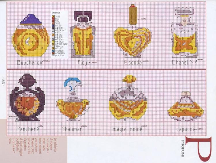 Схема вышивки крестом баночки 48