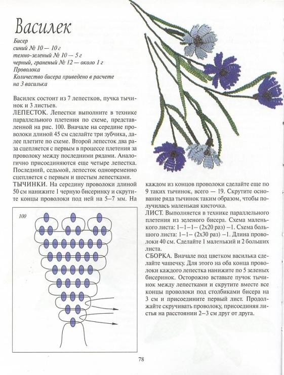 Схемы бисера плетения цветы