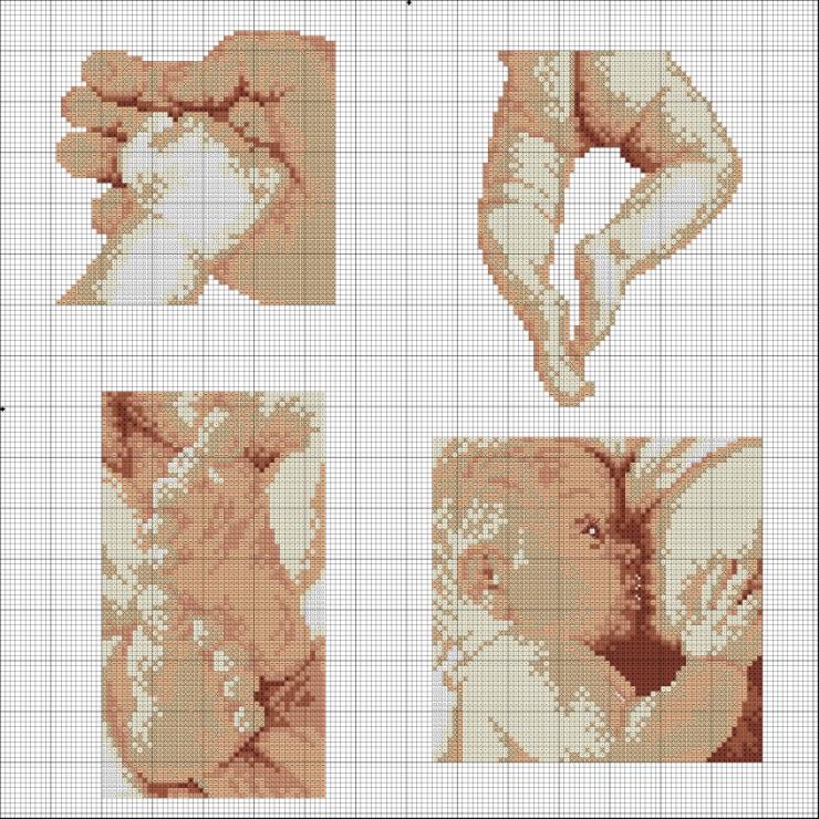 Вышивка метрика младенец на руках 20