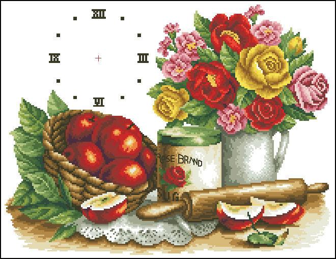 Схемы вышивки крестом натюрморты для кухни 48